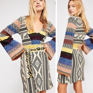 Free People patchwork dress NWT